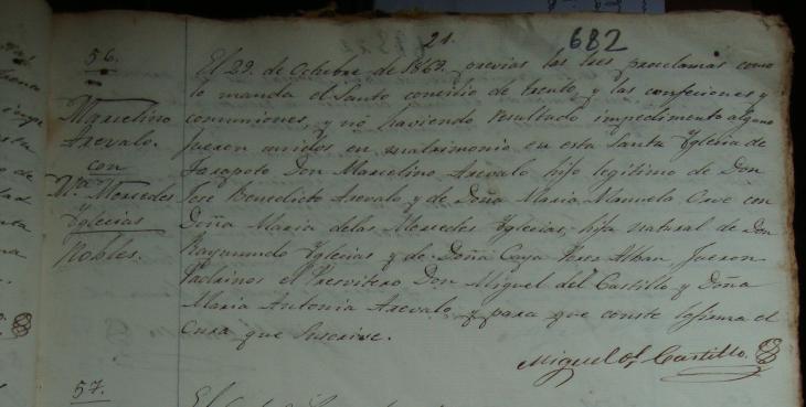 P.M. Marcelino Arévalo y Orbe y María de las Mercedes Iglesias, nobles.png